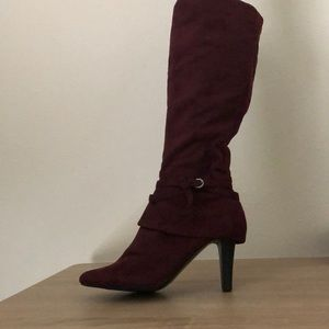 Maroon Impo Knee-high Boots